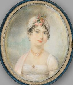 Portrait of a young Dolley Madison during her marriage to James Madison