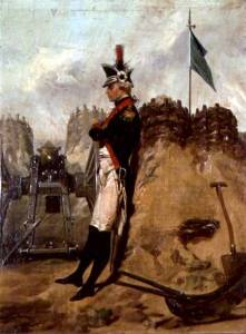 Alexander Hamilton in the Uniform of the New York Artillery by Alonzo Chappel