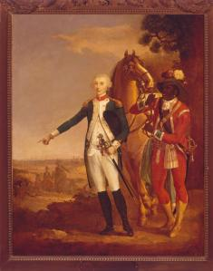 Lafayette with his servent  James Armistead