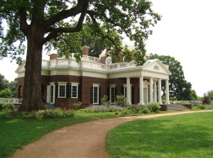 Backside of Thomas Jefferson's Home, Monticello, 2009.