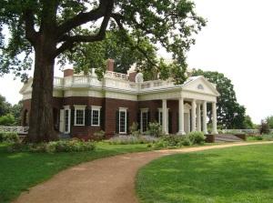 Backside of Thomas Jefferson's Home, Monticello, 2009.