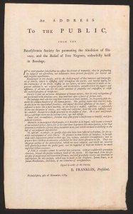 Public address on abolition